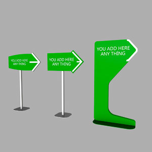direction signs 3D model