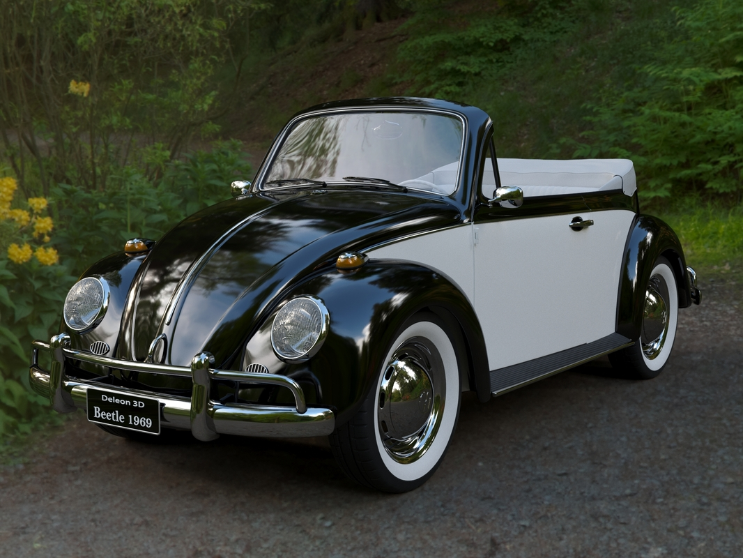 volkswagen beetle convertible 3D model