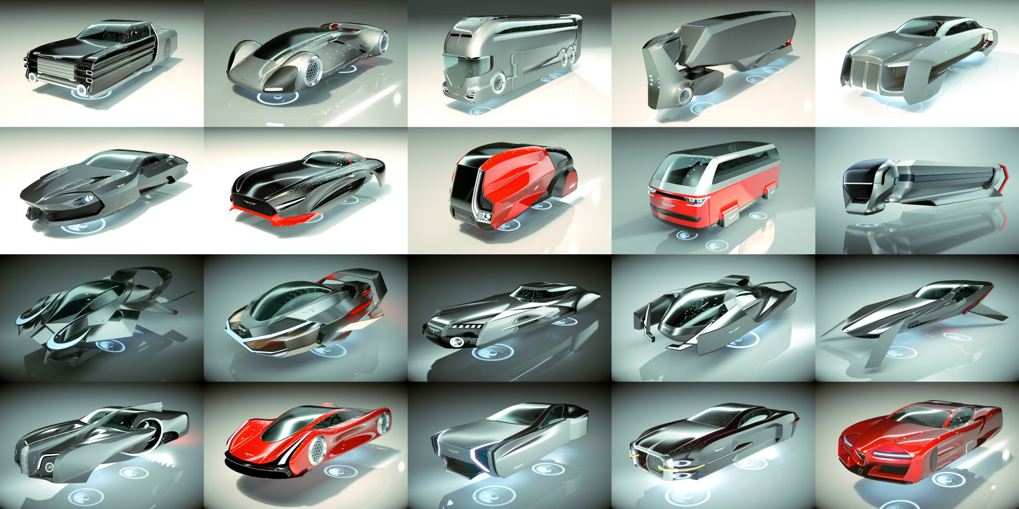 20 1 cool hover car 3D model