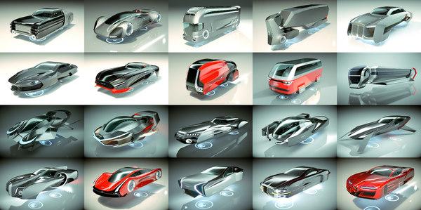20 1 cool hover car 3D model