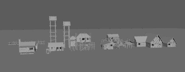 3D forest set