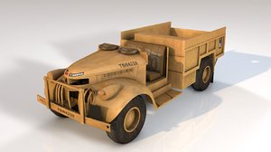 3D model army transport truck vehicle