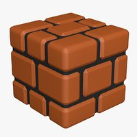 brick block super mario 3D model