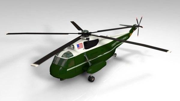 3D vh-3d helicopter marine model