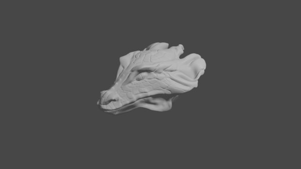 3D model female dragon head