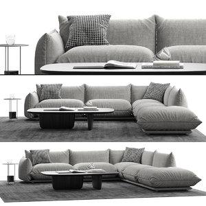 3D marenco sofa l model