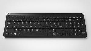 hp k3010 pc keyboard 3D model