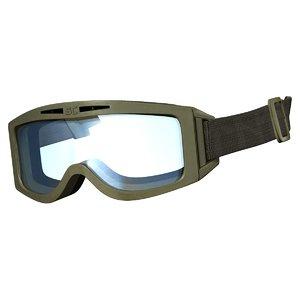 tactical goggle 3D model