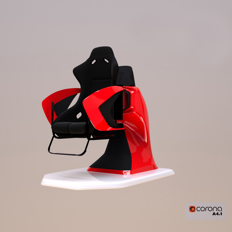 3D 9d chair simulator vr model