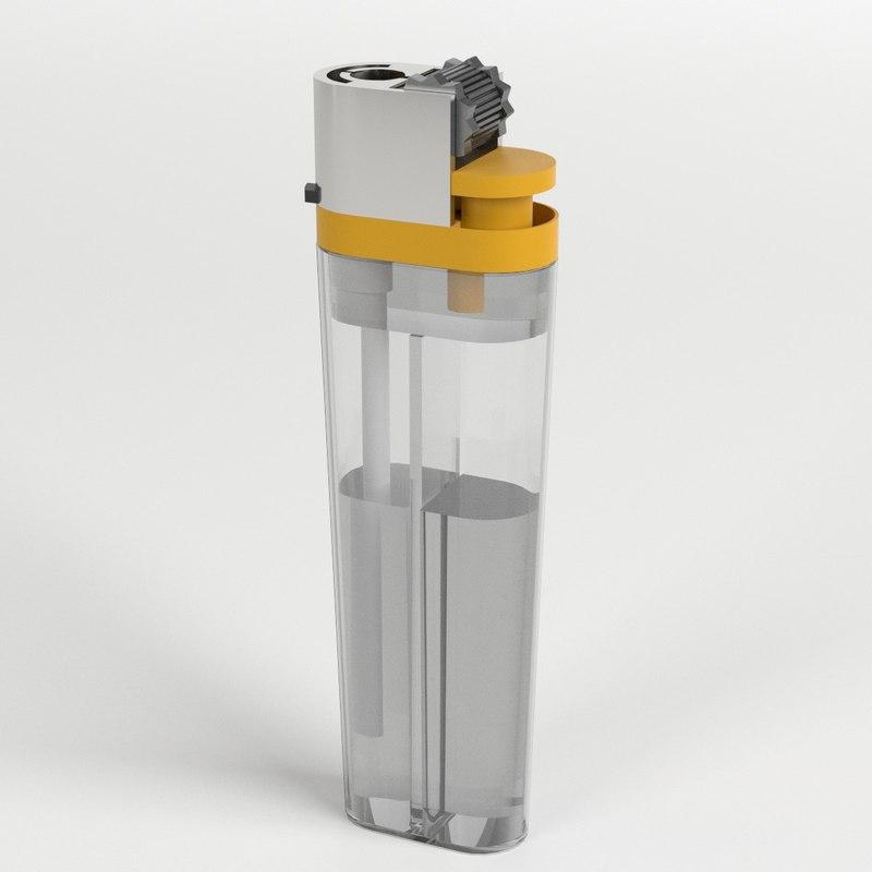 3D model disposable lighter