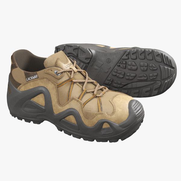 3D realistic hiking boots model