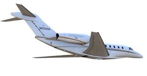 business jet cessna 750 3D model