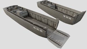 lcvp landing craft pbr model