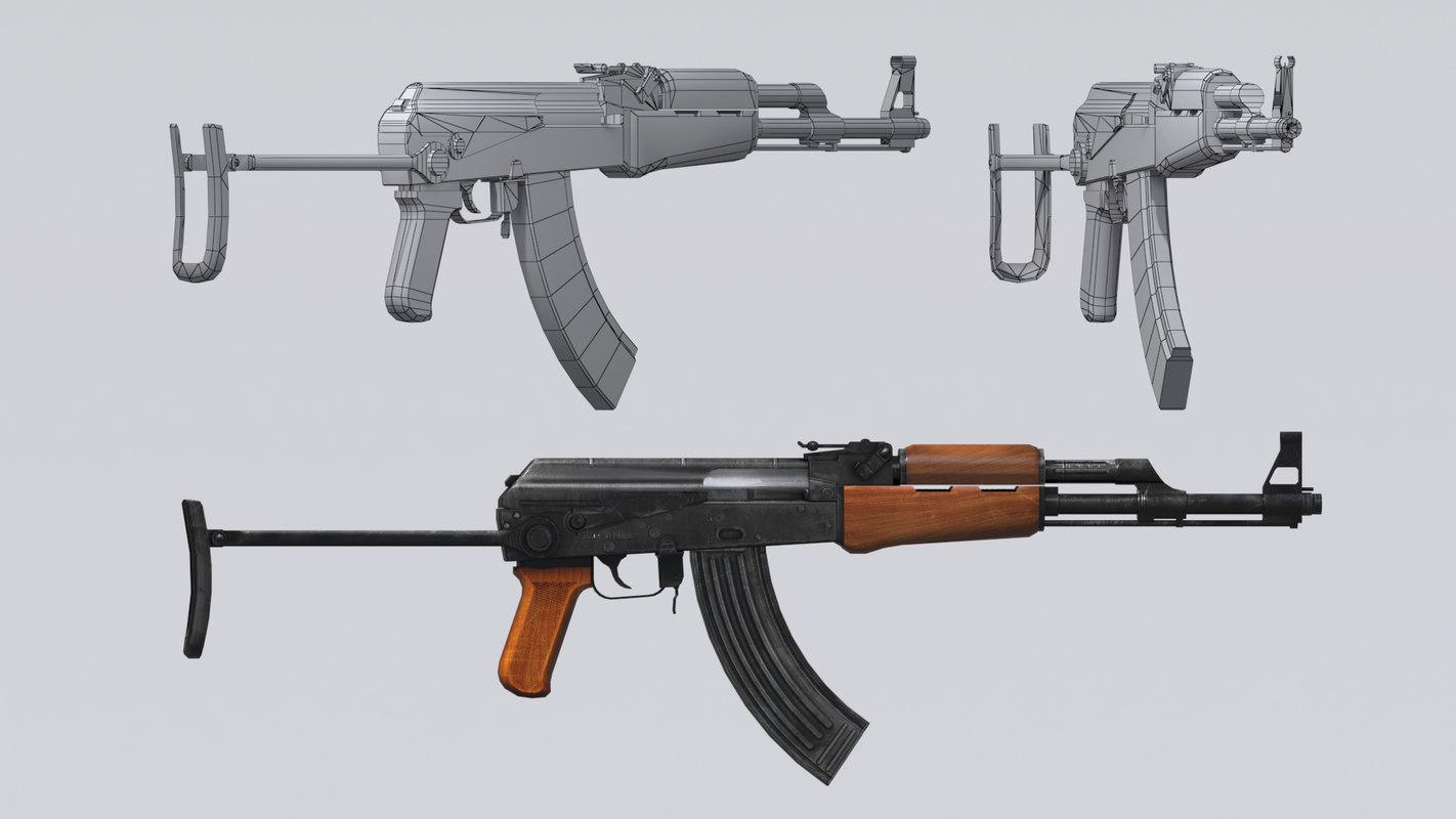 akm assault rifle - 3D