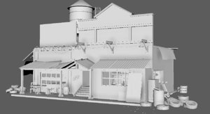 buildings desert 3D model