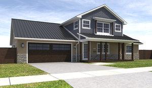 home house exterior 3D