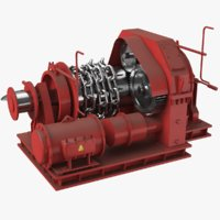 3D winch anchor model