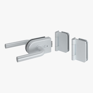lock hinge handle 3D