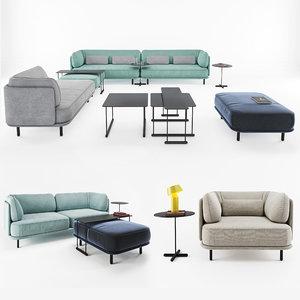 sofa table lamp 3D model
