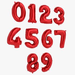 3D foil balloon number