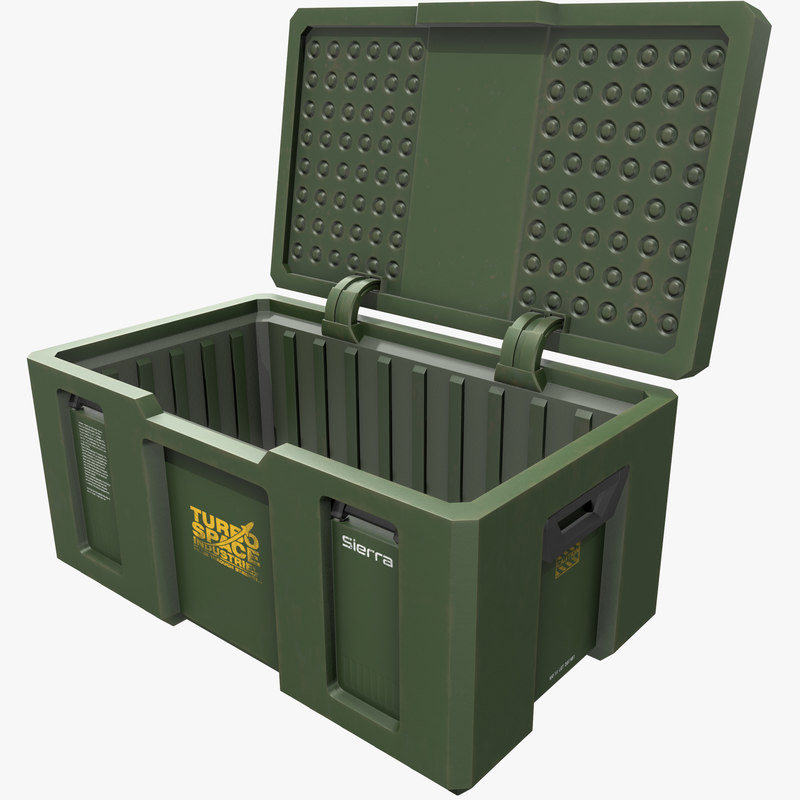 loot crate weapon case 3D model
