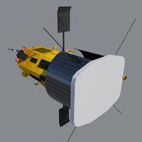 3D parker solar probe spacecraft