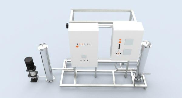 3D model ultraviolet uv water purification