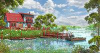 3D environment lake house model