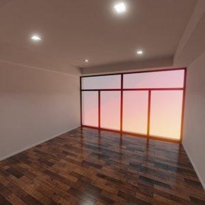 3D modern interior scene model