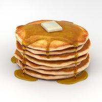 pancakes 3D model
