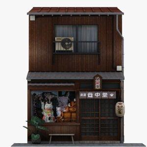 3D old tokyo store model