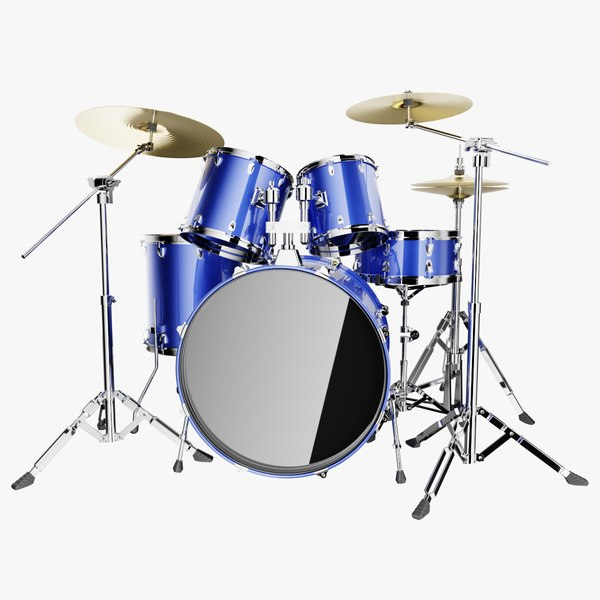3D drums cymbal