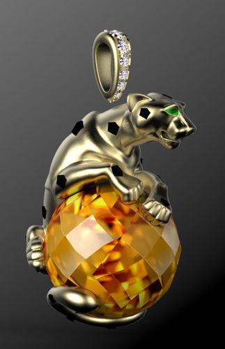 3D panther pendant