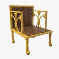 3D ancient egyptian chair model