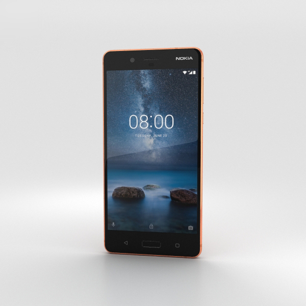 3D nokia 8 polished model