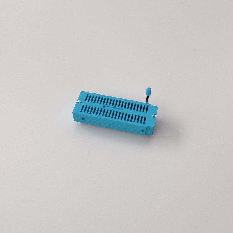 zif socket 3D model
