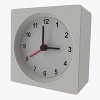 3D white clock