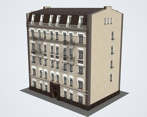 3D building moscow model