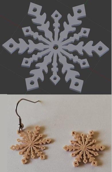 3D earrings print