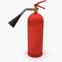 3D model dirt extinguisher