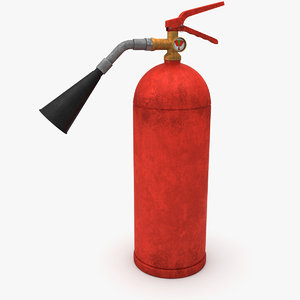 3D model dirt extinguisher
