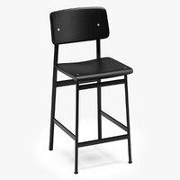 3D muuto loft bar stool