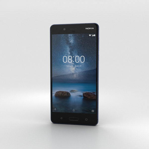 nokia 8 tempered 3D model