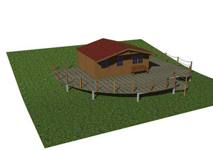 gardening chalet patio 3D model