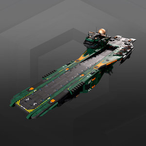 supercarrier gb4 3D model