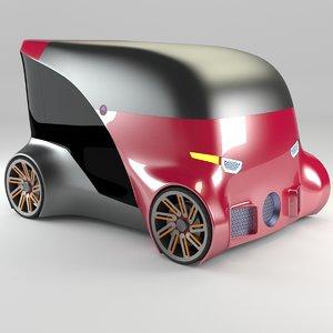 3D model compact car 12