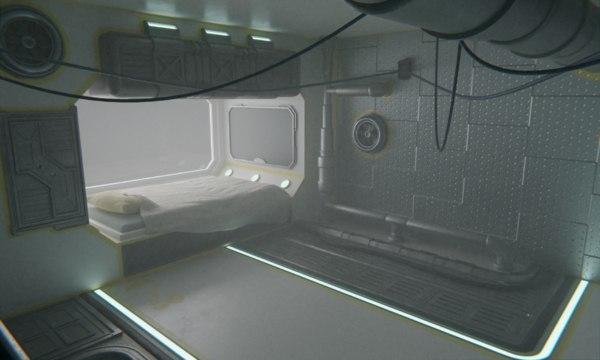 scifi bedroom interior 3D