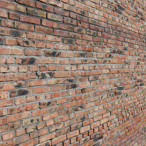 3D ultra realistic brick old wall model
