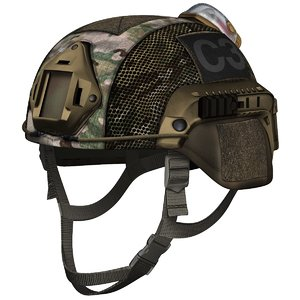 3D ballistic combat helmet model