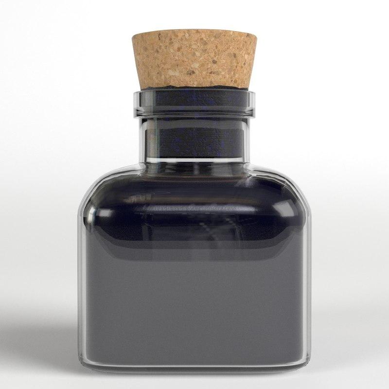vintage ink bottle 3D model